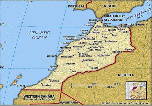 Melilla Spain Map.Untitled Document